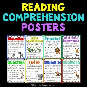 Reading Strategies & Skills - 3 Poster Styles
