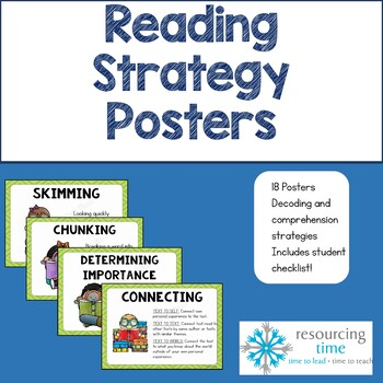 #endoftermdollardeals Reading Strategy Posters