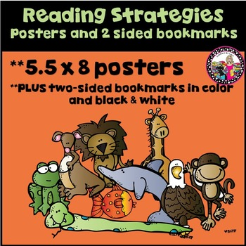 Reading Strategy Posters 5.5 x 8 Plus two-sided bookmark!