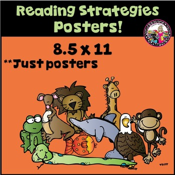 Reading Strategy Posters 8.5 x 11 Portrait!