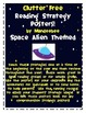 Space Alien Reading Strategy Posters, Bookmark and Matchin