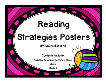 Reading Strategy Posters (Bug Themed)