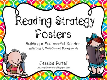 Reading Strategy Posters: Building A Better Reader!  (Multi-Colored)