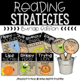 Reading Strategy Posters {Burlap Style}