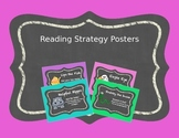 Reading Strategy Posters - Chalkboard Brights