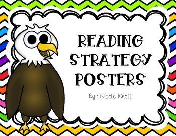 Reading Strategy Posters- Colorful Chevron