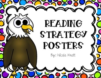 Reading Strategy Posters- Colorful Dots