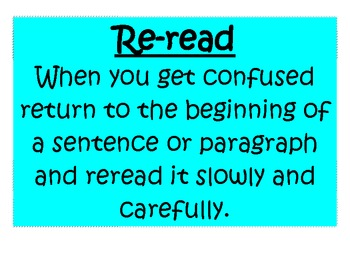 Reading Strategy Posters-Common Core