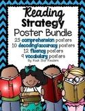 Reading Strategy Posters {Comprehension, Decoding, Fluency, Vocab} Chevron
