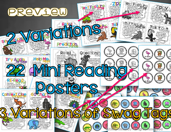 Reading Strategy Posters (Decoding & Comprehension)