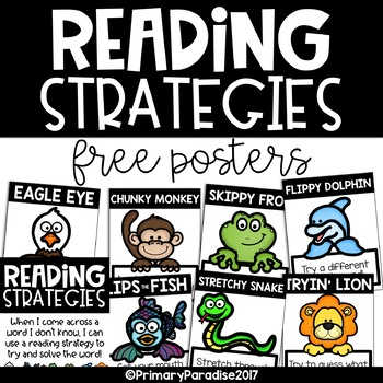 Reading Strategy Posters: Free