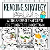 Reading Strategy Posters - Modern Farmhouse