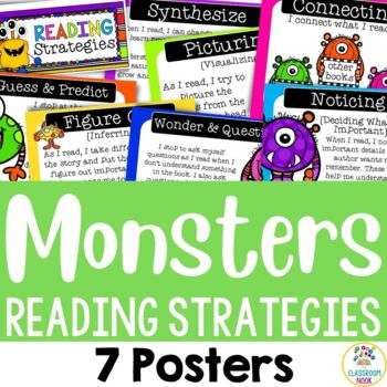 Monster Theme: Reading Strategy Posters