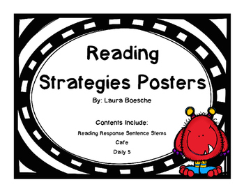 Reading Strategy Posters (Monster Themed)