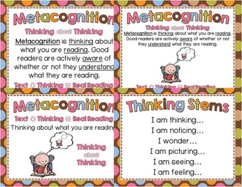 Reading Strategy Posters - Multi-Colored Polka Dots on Chocolate Theme