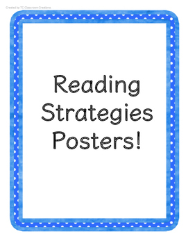 {FREE} Reading Strategy Posters: Polka Dots