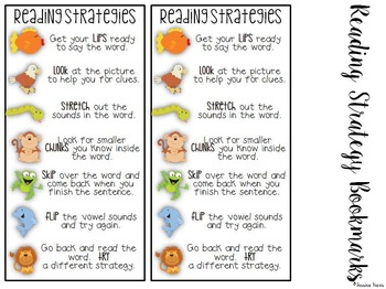 Reading Strategy Posters {Posters, Bookmarks, & Teacher Cards}