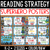 Reading Strategy Posters {Primary} Superhero Theme