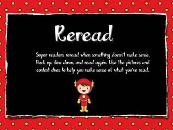 Reading Strategy Posters - Superhero Theme