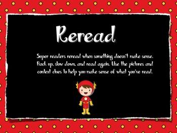 Reading Strategy Posters - Superhero Theme