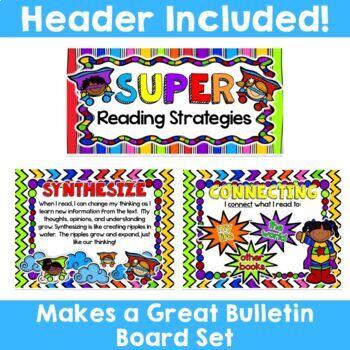 Superhero Theme: Reading Strategy Posters