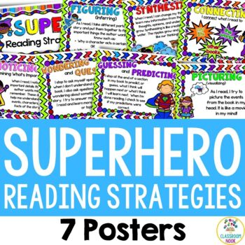 Superhero Theme: Reading Strategy Posters