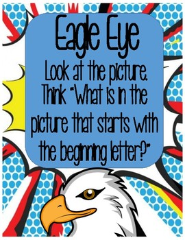 Reading Strategy Posters Superhero Theme