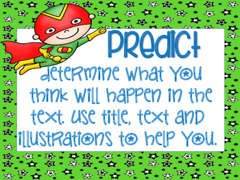 Reading Strategy Posters- Superhero theme