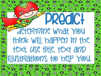 Reading Strategy Posters- Superhero theme