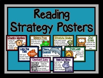 Reading Strategy Posters-The Modern Classroom
