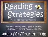 Reading Strategy Posters and Practice Worksheets
