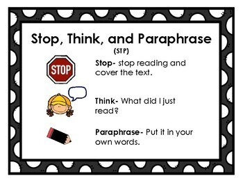 """Reading Strategy Posters to go with the """"Jan Plan"""""""
