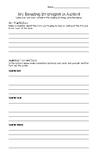 Reading Strategy Practice or Assessment Sheet