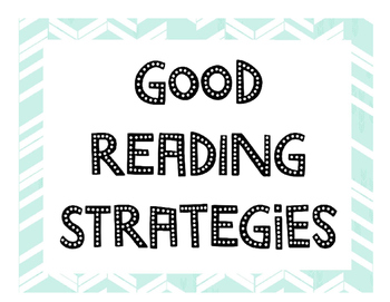 Reading Strategy Printable Handout & Posters
