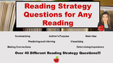 Reading Strategy Questions for Any Reading!
