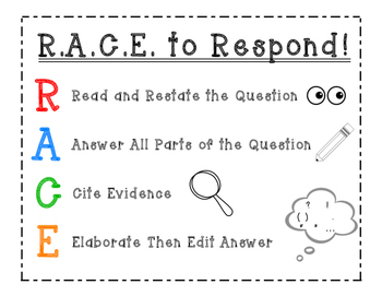 Reading Strategy: RACE to Respond!