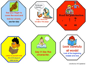 Guided/Independent Reading Strategy Signs