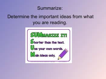 Reading Strategy Review