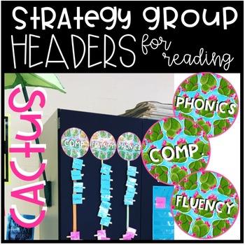 Reading Strategy Rotation Headers