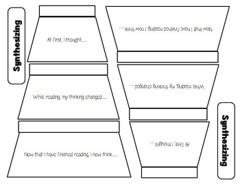 Reading Strategy: SYNTHESIZING Interactive Notebook