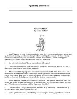 Reading Strategy Sequencing Assessment 3