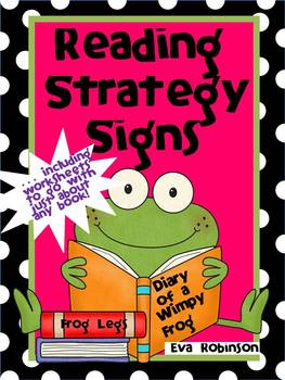 Reading Strategy Signs- Froggy Style!