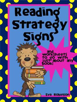 Reading Strategy Signs- Monkey Style!