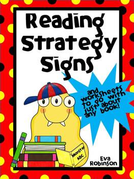 Reading Strategy Signs- Monster Style!