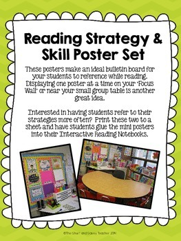 Reading Strategy & Skill Poster Set