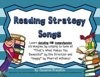 Reading Strategy Song Lyrics For Decoding and Comprehension