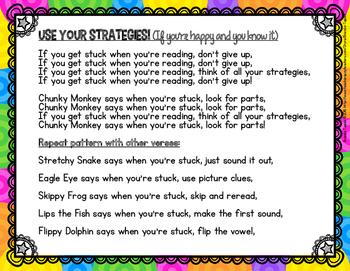 Reading Strategy Songs FREEBIE