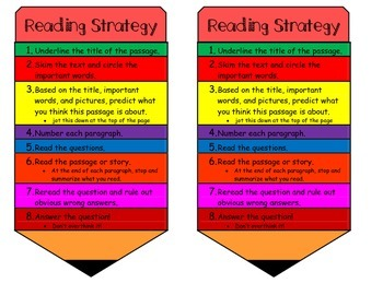 Reading Strategy Steps
