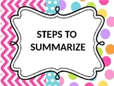 Reading Strategy Summarizing Game