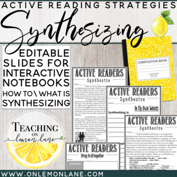 Reading Strategy Synthesizing / How to Synthesize BUNDLE / Editable *w/ any Text